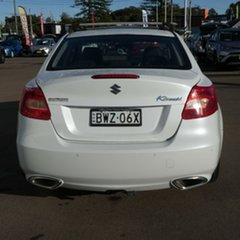 2011 Suzuki Kizashi FR MY11 Prestige White 6 Speed Constant Variable Sedan