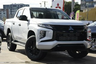 2020 Mitsubishi Triton MR MY21 GSR Double Cab White Diamond 6 Speed Sports Automatic Utility.