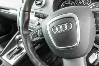 2010 Audi A3 8P MY11 TFSI Sportback S Tronic Ambition White 7 Speed Sports Automatic Dual Clutch
