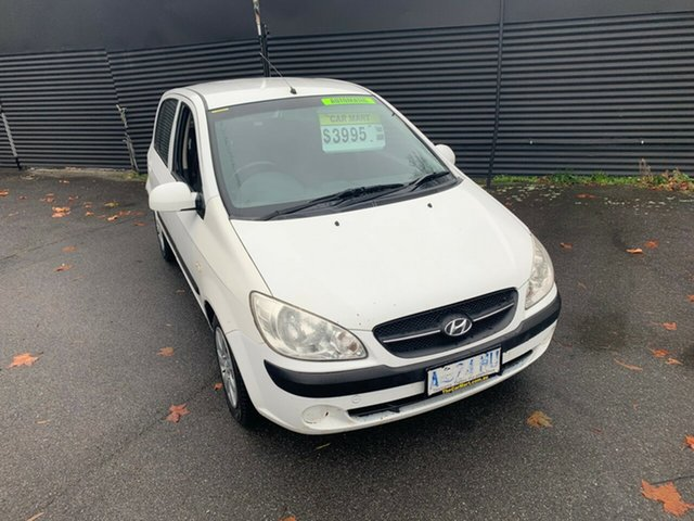 Used Hyundai Getz TB MY09 S, 2008 Hyundai Getz TB MY09 S White 4 Speed Automatic Hatchback