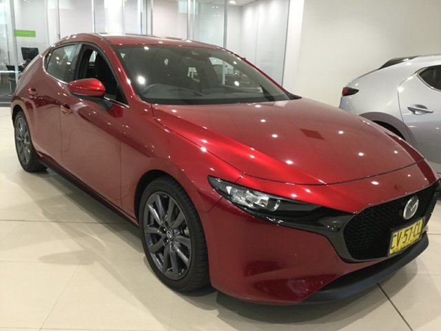 Used Mazda 3 BP2HLA G25 SKYACTIV-Drive GT, 2019 Mazda 3 BP2HLA G25 SKYACTIV-Drive GT Soul Red 6 Speed Sports Automatic Hatchback