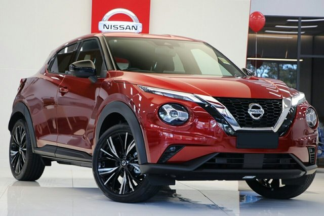New Nissan Juke F16 Ti DCT 2WD Morphett Vale, 2020 Nissan Juke F16 Ti DCT 2WD Fuji Sunset Red 7 Speed Sports Automatic Dual Clutch Hatchback