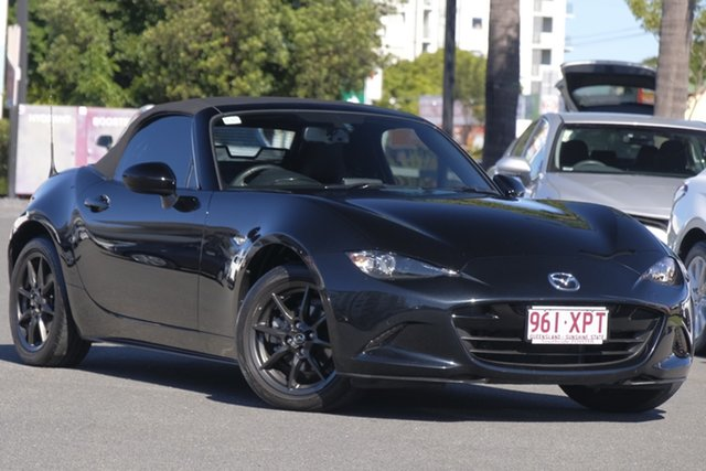Used Mazda MX-5 ND GT SKYACTIV-Drive, 2015 Mazda MX-5 ND GT SKYACTIV-Drive Black Pearl 6 Speed Sports Automatic Roadster
