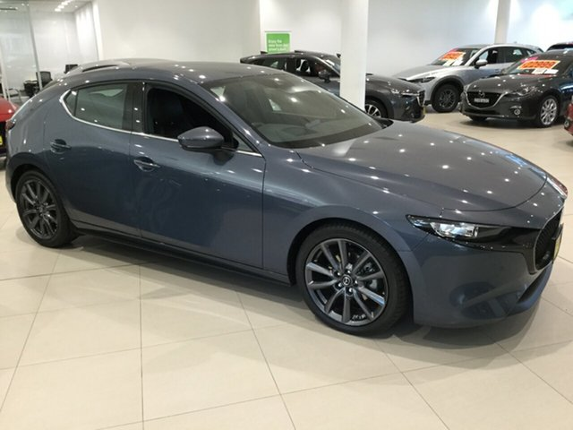Used Mazda 3 BP2HLA G25 SKYACTIV-Drive GT, 2019 Mazda 3 BP2HLA G25 SKYACTIV-Drive GT Polymetal Grey 6 Speed Sports Automatic Hatchback