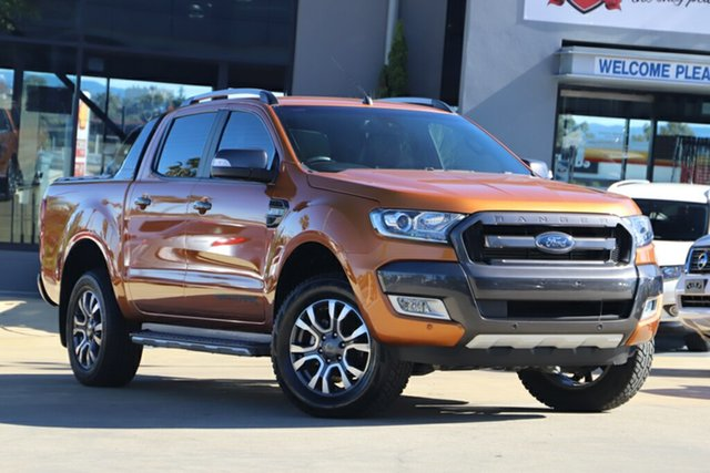 Used Ford Ranger PX MkII Wildtrak Double Cab, 2016 Ford Ranger PX MkII Wildtrak Double Cab Orange 6 Speed Sports Automatic Utility