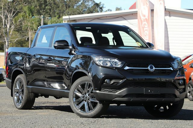 New Ssangyong Musso Q200 MY20.5 Ultimate Crew Cab South Gladstone, 2021 Ssangyong Musso Q200 MY20.5 Ultimate Crew Cab Black 6 Speed Sports Automatic Utility