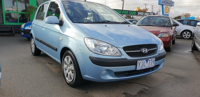 Used Hyundai Getz TB MY09 S Cheltenham, 2010 Hyundai Getz TB MY09 S Blue 5 Speed Manual Hatchback