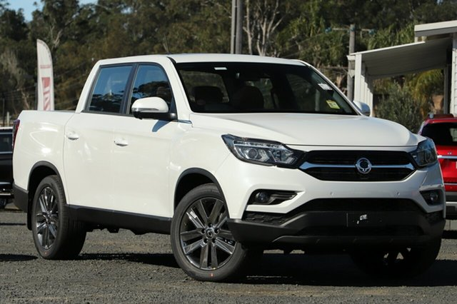 New Ssangyong Musso Q200 MY20.5 Ultimate Crew Cab South Gladstone, 2021 Ssangyong Musso Q200 MY20.5 Ultimate Crew Cab White 6 Speed Sports Automatic Utility