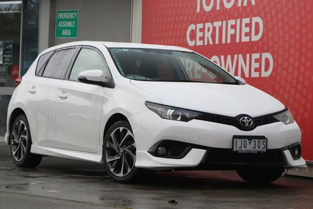Used Toyota Corolla ZRE182R SX S-CVT, 2017 Toyota Corolla ZRE182R SX S-CVT Glacier White 7 Speed Constant Variable Hatchback