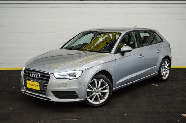 Used Audi A3 8V MY16 Attraction Sportback S Tronic, 2015 Audi A3 8V MY16 Attraction Sportback S Tronic Silver 7 Speed Sports Automatic Dual Clutch