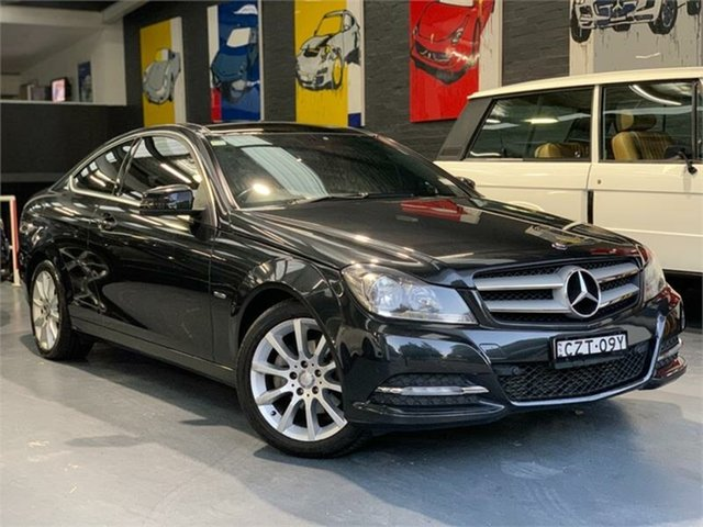 Used Mercedes-Benz C-Class C204 , 2011 Mercedes-Benz C-Class C204 C180 BlueEFFICIENCY Black Coupe