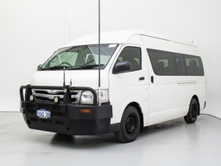 2012 Toyota HiAce KDH223R MY12 Upgrade Commuter White Bus.