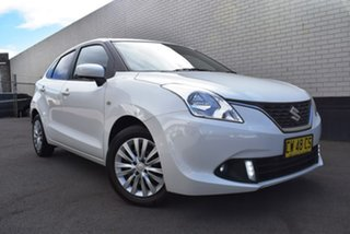 2016 Suzuki Baleno EW GL White 4 Speed Automatic Hatchback.