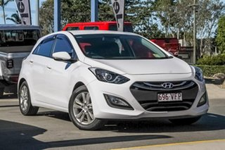 2014 Hyundai i30 GD2 MY14 Trophy White 6 Speed Sports Automatic Hatchback.