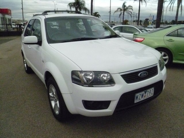 Used Ford Territory SY MkII TS RWD, 2009 Ford Territory SY MkII TS RWD White 4 Speed Sports Automatic Wagon