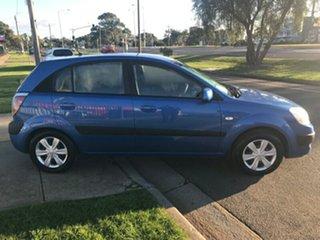 2007 Kia Rio JB MY07 LX Blue 4 Speed Automatic Hatchback.