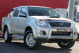2014 Toyota Hilux KUN26R MY14 SR5 Double Cab Silver 5 Speed Automatic Utility.