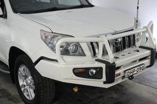 2013 Toyota Landcruiser Prado KDJ150R Kakadu White 5 Speed Sports Automatic Wagon.