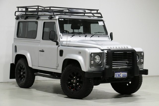 Used Land Rover Defender MY14 90, 2014 Land Rover Defender MY14 90 Silver 6 Speed Manual Wagon