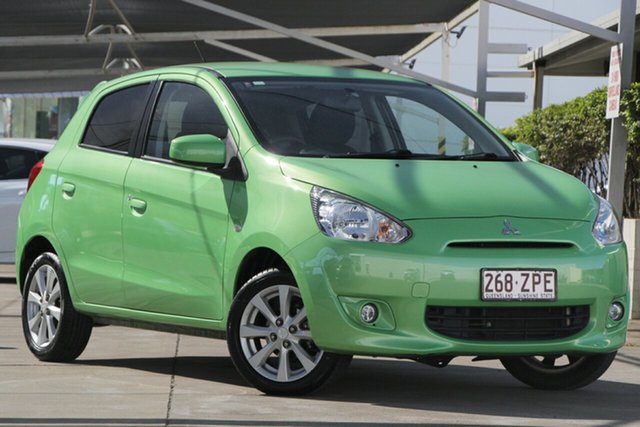 Used Mitsubishi Mirage LA MY15 LS, 2015 Mitsubishi Mirage LA MY15 LS Green 1 Speed Hatchback