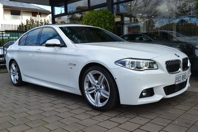 Used BMW 5 Series F10 LCI 535d Steptronic M Sport, 2016 BMW 5 Series F10 LCI 535d Steptronic M Sport White 8 Speed Sports Automatic Sedan