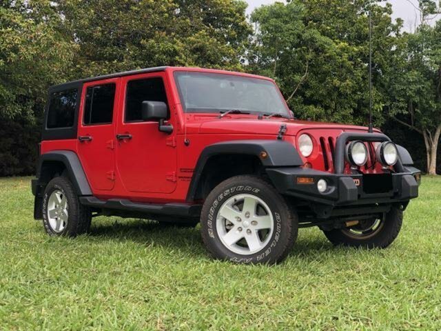 Used Jeep Wrangler Unlimited JK MY13 Sport (4x4), 2013 Jeep Wrangler Unlimited JK MY13 Sport (4x4) Red 5 Speed Automatic Softtop