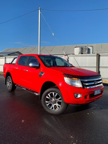 Used Ford Ranger PX XLT Double Cab, 2014 Ford Ranger PX XLT Double Cab Red 6 Speed Manual Utility