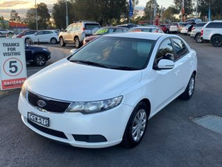 2011 Kia Cerato TD MY12 S White 6 Speed Sports Automatic Sedan.