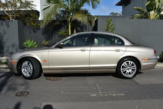 2004 Jaguar S-Type X204 SE Gold 6 Speed Automatic Sedan.