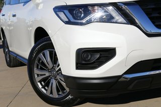 2017 Nissan Pathfinder R52 MY17 Series 2 ST (4x4) White Continuous Variable Wagon.