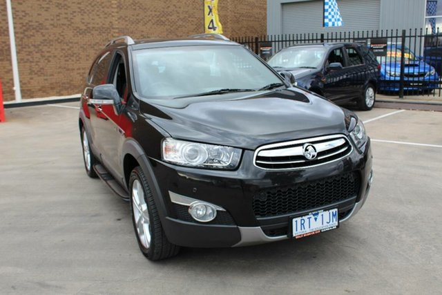 Used Holden Captiva CG MY12 7 LX (4x4), 2013 Holden Captiva CG MY12 7 LX (4x4) Black 6 Speed Automatic Wagon