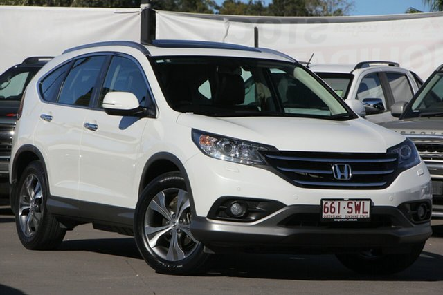 Used Honda CR-V RM MY14 VTi-L 4WD, 2013 Honda CR-V RM MY14 VTi-L 4WD White 5 Speed Sports Automatic Wagon