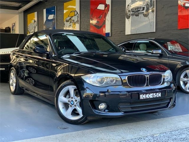 Used BMW 118d  118d, 2011 BMW 118d E88 LCI 118d Black Sports Automatic Convertible