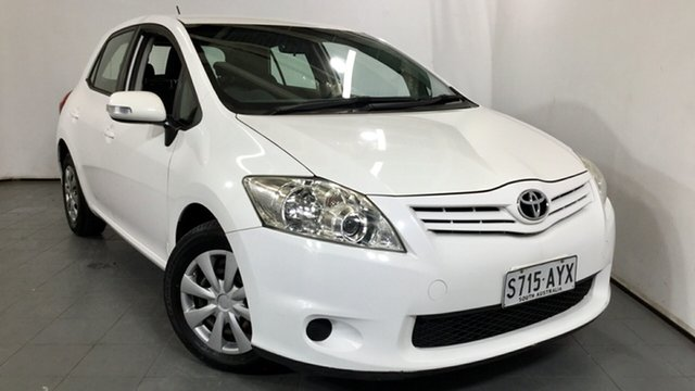 Used Toyota Corolla ZRE152R MY11 Ascent, 2011 Toyota Corolla ZRE152R MY11 Ascent White 6 Speed Manual Hatchback