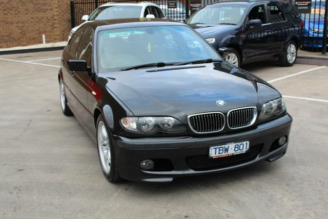 Used BMW 320i E46 Sport, 2004 BMW 320i E46 Sport Black 5 Speed Auto Steptronic Sedan