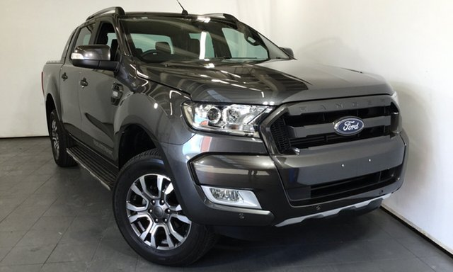 Used Ford Ranger PX MkII 2018.00MY Wildtrak Double Cab, 2018 Ford Ranger PX MkII 2018.00MY Wildtrak Double Cab Grey 6 Speed Sports Automatic Utility