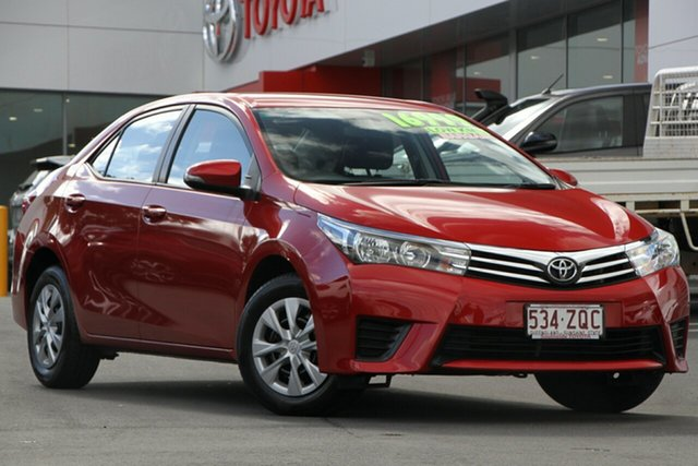 Used Toyota Corolla ZRE172R Ascent S-CVT, 2015 Toyota Corolla ZRE172R Ascent S-CVT Red Mica Metallic 7 Speed Constant Variable Sedan
