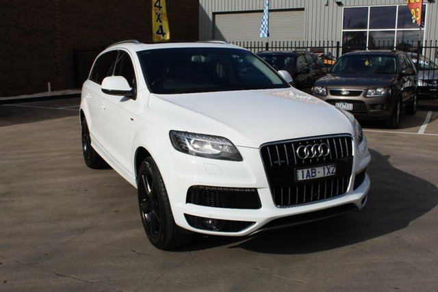 Used Audi Q7 MY14 3.0 TDI Quattro, 2013 Audi Q7 MY14 3.0 TDI Quattro White 8 Speed Automatic Tiptronic Wagon