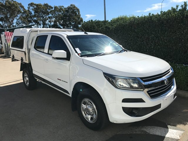 Used Holden Colorado RG MY17 LS Crew Cab, 2017 Holden Colorado RG MY17 LS Crew Cab Summit White 6 speed Manual Cab Chassis