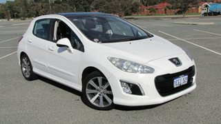 2013 Peugeot 308 T7 MY13 Allure White 6 Speed Sports Automatic Hatchback.