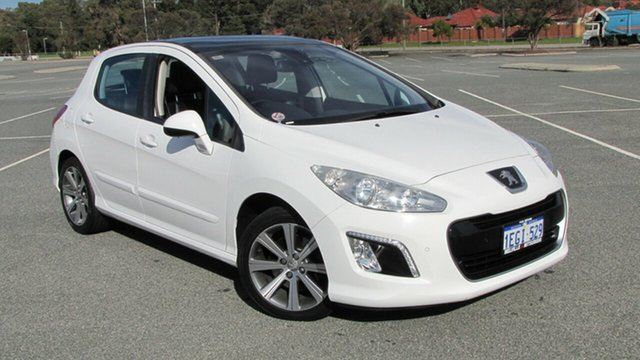 Used Peugeot 308 T7 MY13 Allure, 2013 Peugeot 308 T7 MY13 Allure White 6 Speed Sports Automatic Hatchback