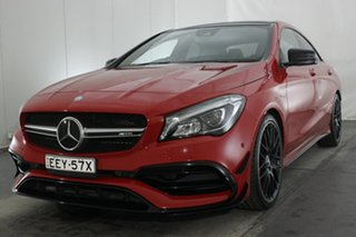 2016 Mercedes-Benz CLA-Class C117 806MY CLA45 AMG SPEEDSHIFT DCT 4MATIC Red 7 Speed.
