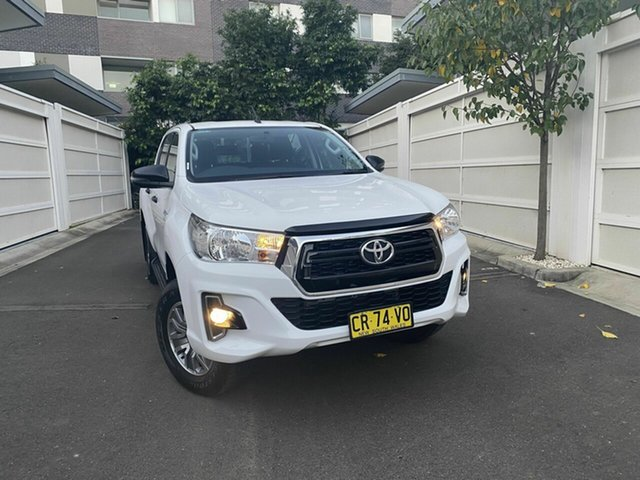 Used Toyota Hilux GUN136R SR Double Cab 4x2 Hi-Rider, 2018 Toyota Hilux GUN136R SR Double Cab 4x2 Hi-Rider White 6 Speed Sports Automatic Utility