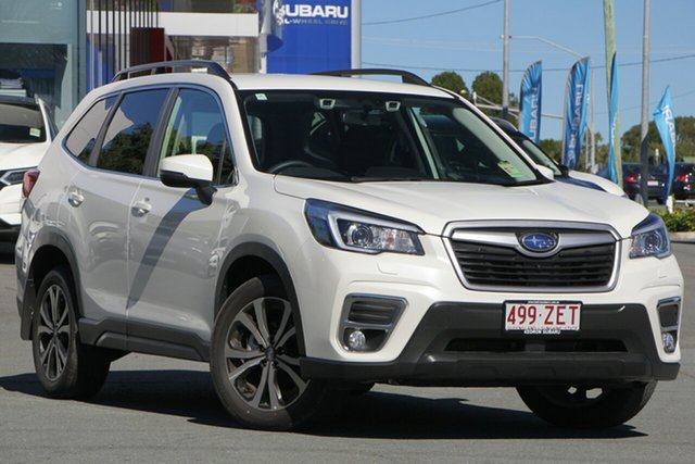 Demo Subaru Forester S5 MY20 2.5i Premium CVT AWD, 2019 Subaru Forester S5 MY20 2.5i Premium CVT AWD White Crystal 7 Speed Constant Variable Wagon