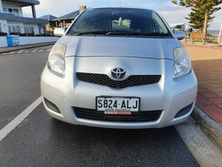 2011 Toyota Yaris NCP130R YR Silver 5 Speed Manual Hatchback.