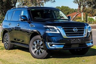 2020 Nissan Patrol Y62 Series 5 MY20 TI-L Hermosa Blue 7 Speed Sports Automatic Wagon.