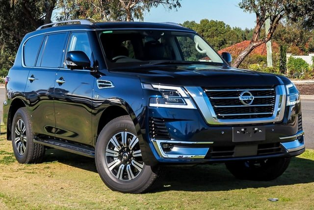 Demo Nissan Patrol Y62 Series 5 MY20 TI-L, 2020 Nissan Patrol Y62 Series 5 MY20 TI-L Hermosa Blue 7 Speed Sports Automatic Wagon