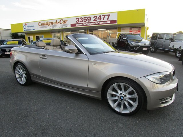 Used BMW 1 Series E88 MY10 123d Steptronic, 2009 BMW 1 Series E88 MY10 123d Steptronic Silver 6 Speed Sports Automatic Convertible