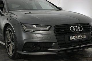 2016 Audi A7 4G MY17 Bi-Turbo Sportback Tiptronic Quattro Daytona Grey 8 Speed Sports Automatic.