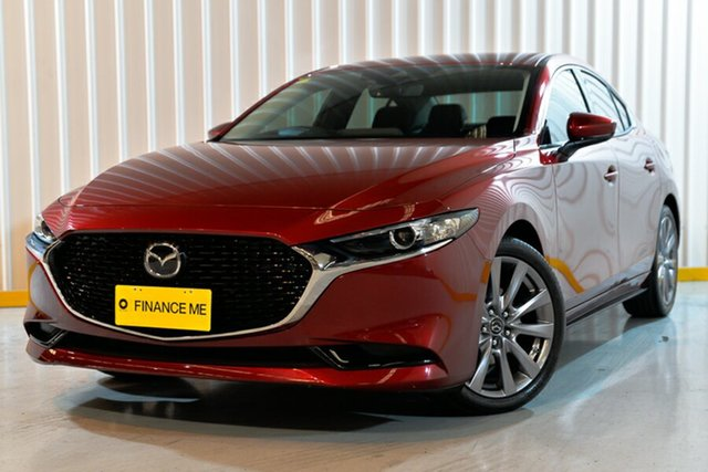 Used Mazda 3 BP2SLA G25 SKYACTIV-Drive GT, 2019 Mazda 3 BP2SLA G25 SKYACTIV-Drive GT Red/Black 6 Speed Sports Automatic Sedan